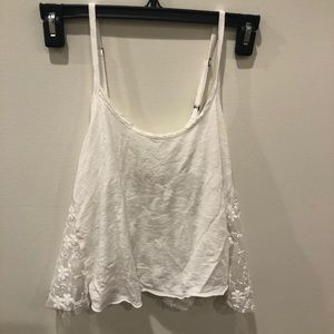 White Cropped Tank from Hollister